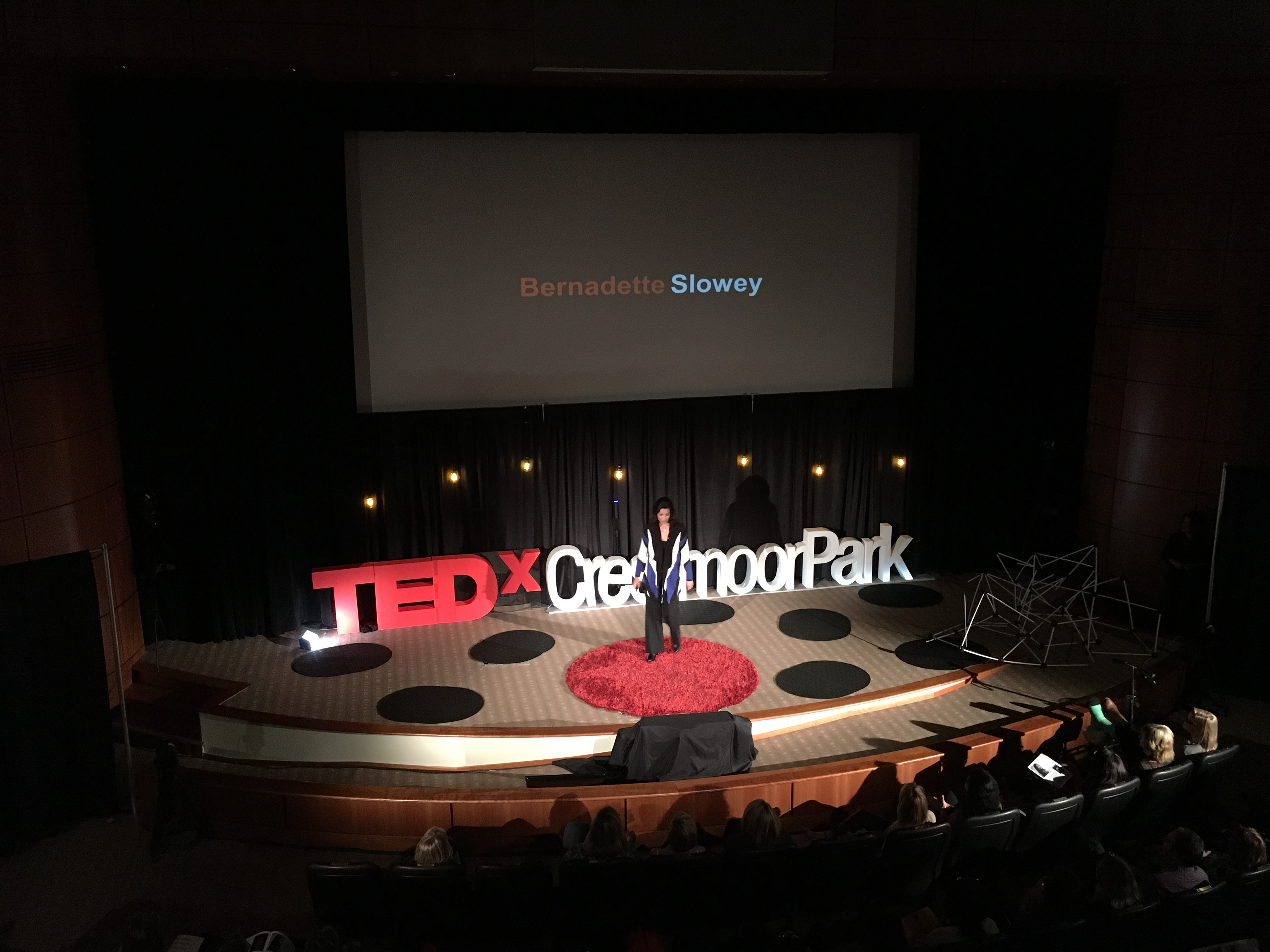 TEDx Stage Above Photo